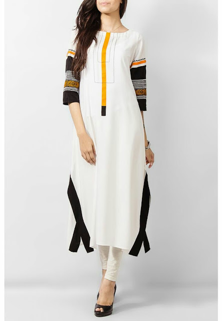 White mix cotton kurta