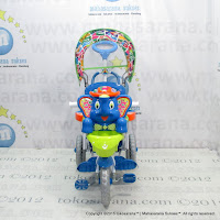 Royal RY8088CJ Mexico Elephant Rocker Baby Tricycle Canopy Cushion Seat