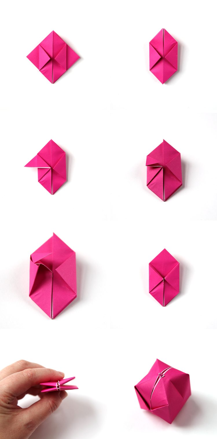 DIY ORIGAMI BOX FAIRY LIGHTS