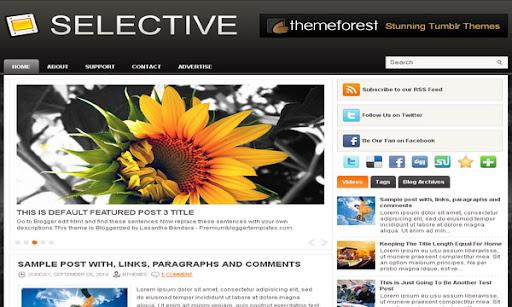Selective Blogger Template