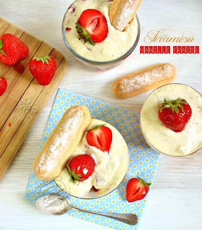 tiramisu fraise verrine