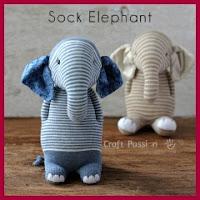 Elefante con calcetines