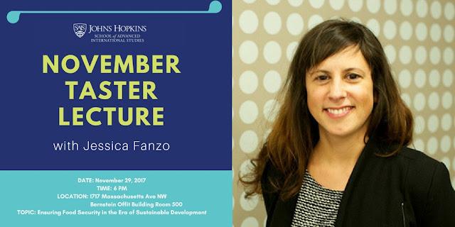 Jessica Fanzo at Johns Hopkins School of Advanced International Studies