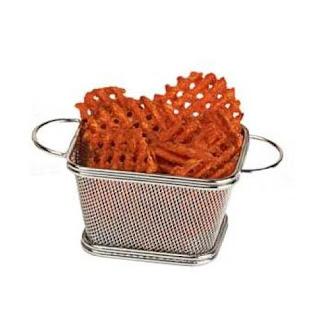 cookie basket, mesh basket, serving basket, fry basket