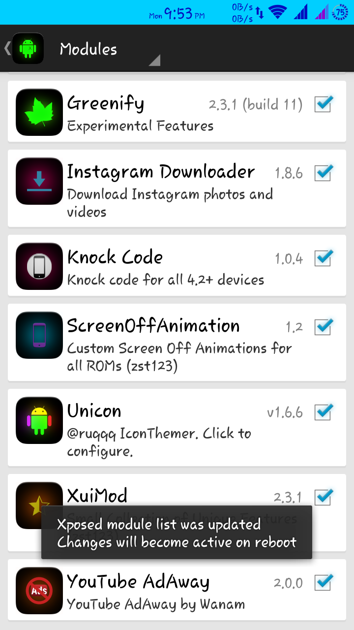Xposed Module :: Screen Off Animation