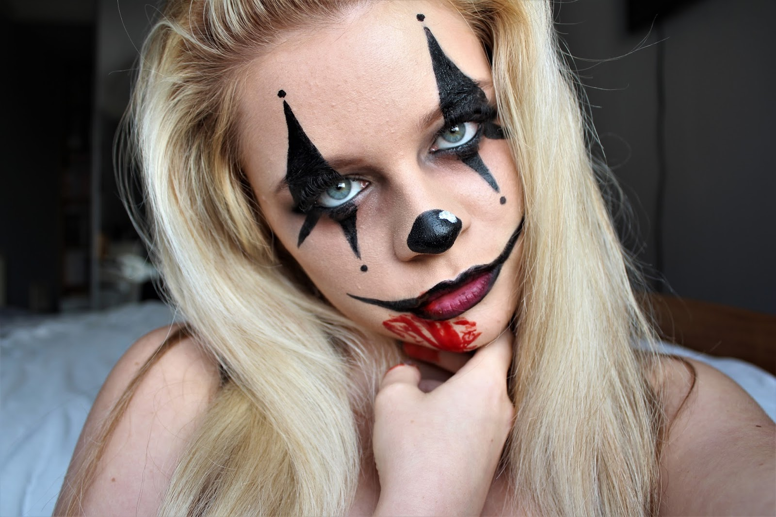clown halloween makeup blog post