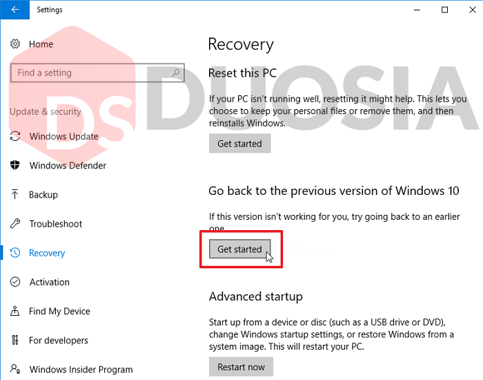 Cara mudah downgrade windows 10