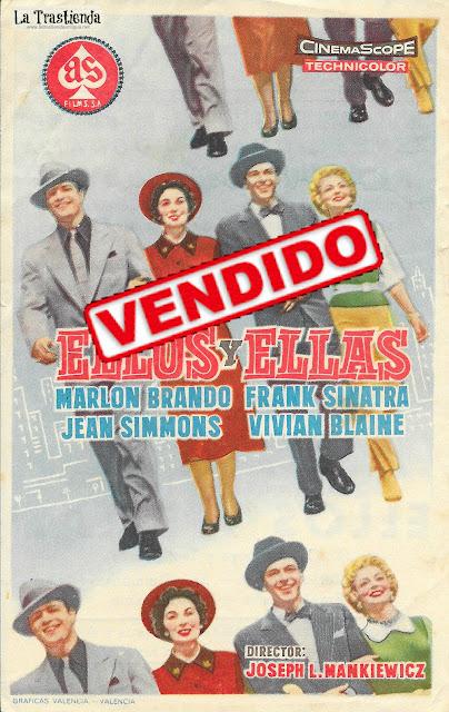 Ellos y Ellas - Programa de Cine - Marlon Brando -Frank Sinatra - Jean Simmons