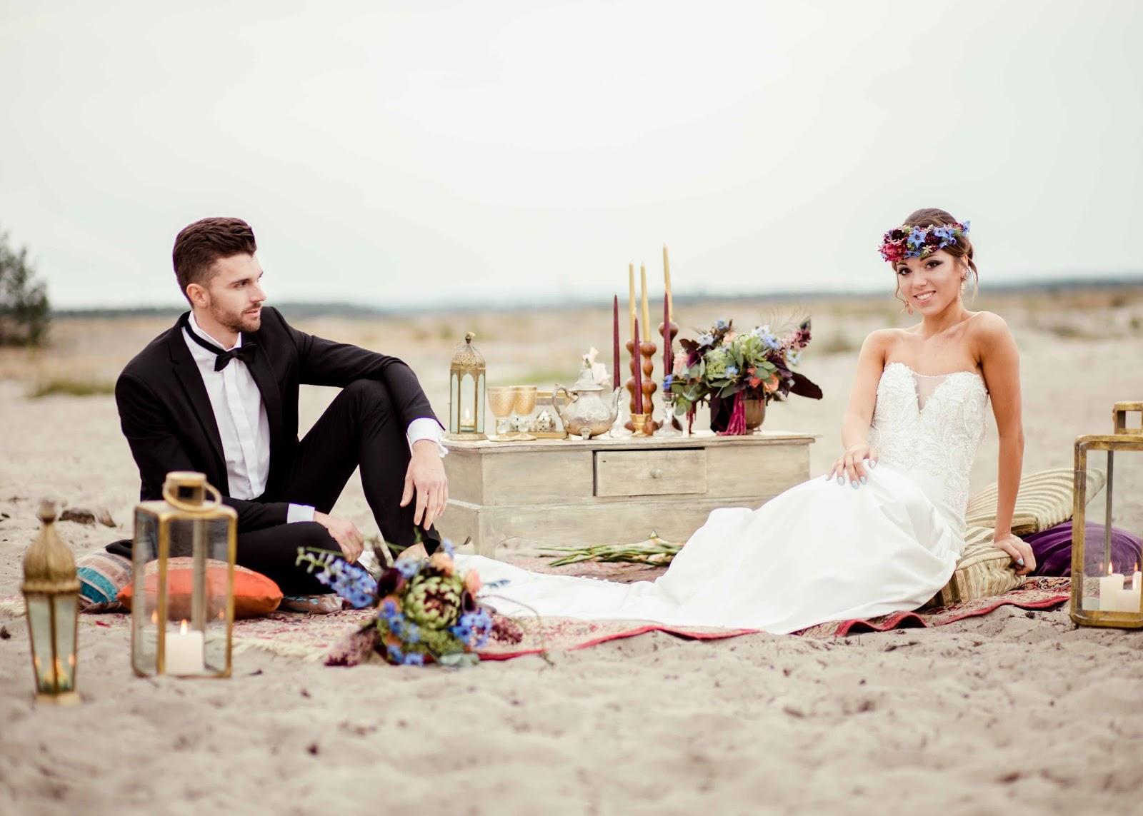 Wianek ślubny w stylu marokańskim.