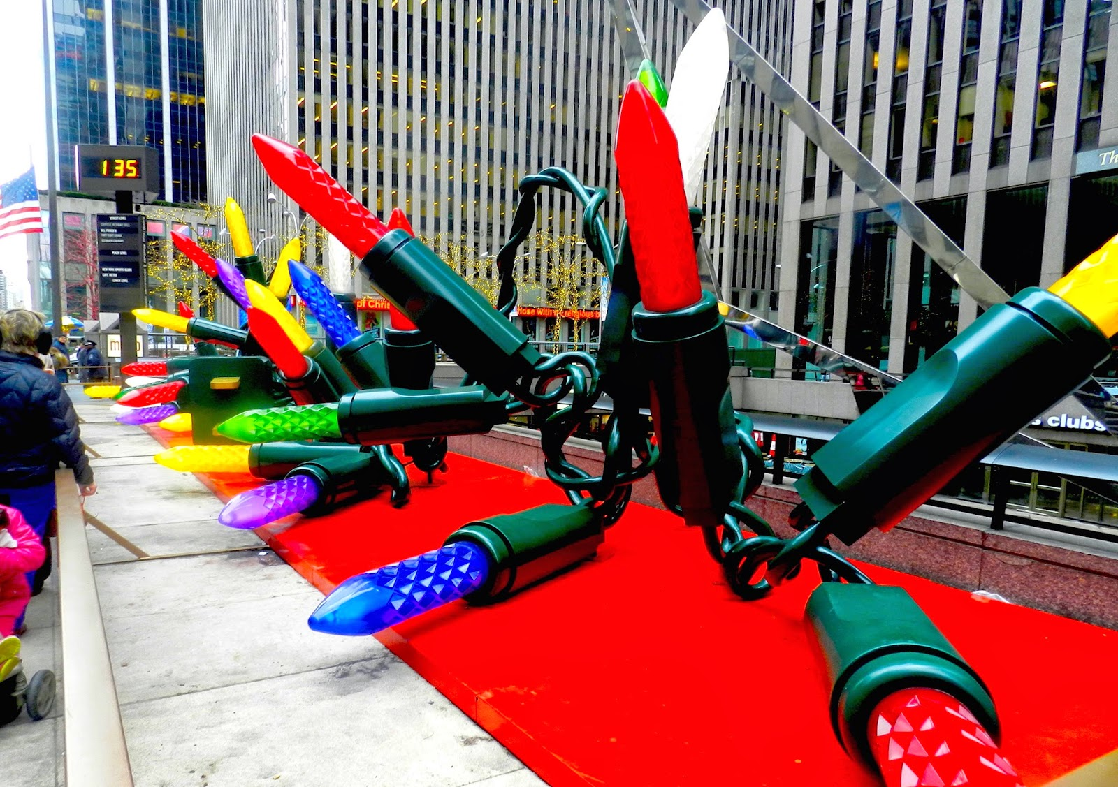 Christmas new york city decorations lights sixth