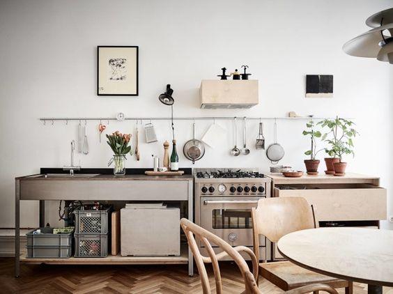 Ada Juga Yang Mempercantik Dapur Dengan Menata Perlatan Masak Disusun Berjajar Di Dinding Rak Menjadi Pilihan Untuk Memercantik Susunan Peralatan
