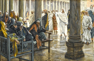 Jesus with scribes and Pharisees by James Tissot