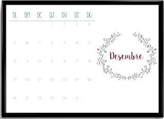 Calendario desembre horitzontal