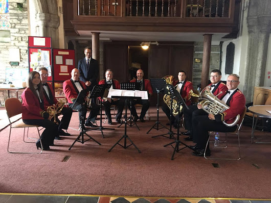 Camborne Band on Wedding Duties!