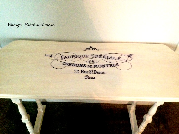 Vintage, Paint and more... stenciled white furniture, diy stenciling