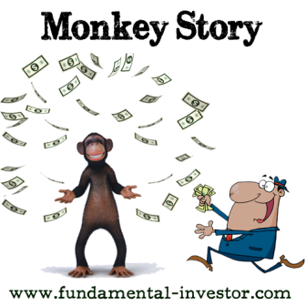 Fundamental Investor: Monkey Story of Stock Market Dynamics