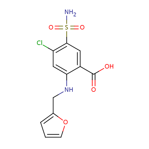 Struktur Kimia Furosemide / Furosemid