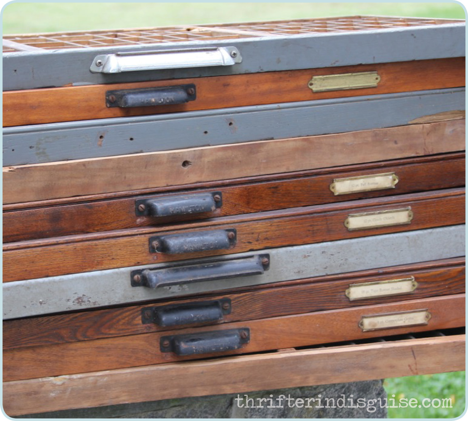 Preferred A Thrifter in Disguise: Repurposed Trays Letterpress Typecase Drawers VO16
