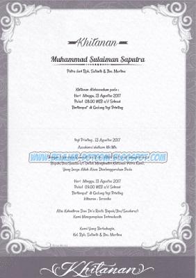 Download Undangan Syukuran Khitanan Sederhana ERBA 88164 yang Bisa di Edit