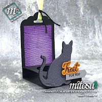 Stampin' Up! Cat Punch Card and Treat Idea. Order craft materials from Mitosu Crafts UK online shop
