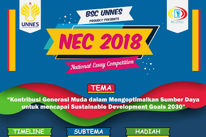 Contest Lomba NEC National Essay Competition 2018 di UNNES