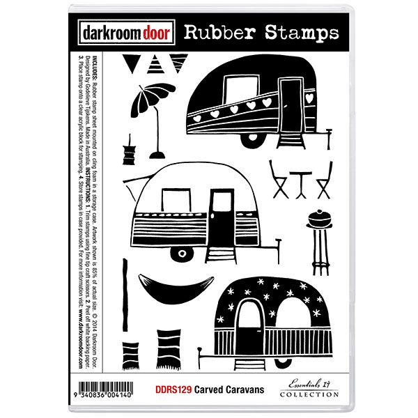 Caravan stamp set by Darkroom Door for sale at Art by Jenny art and craft online shop