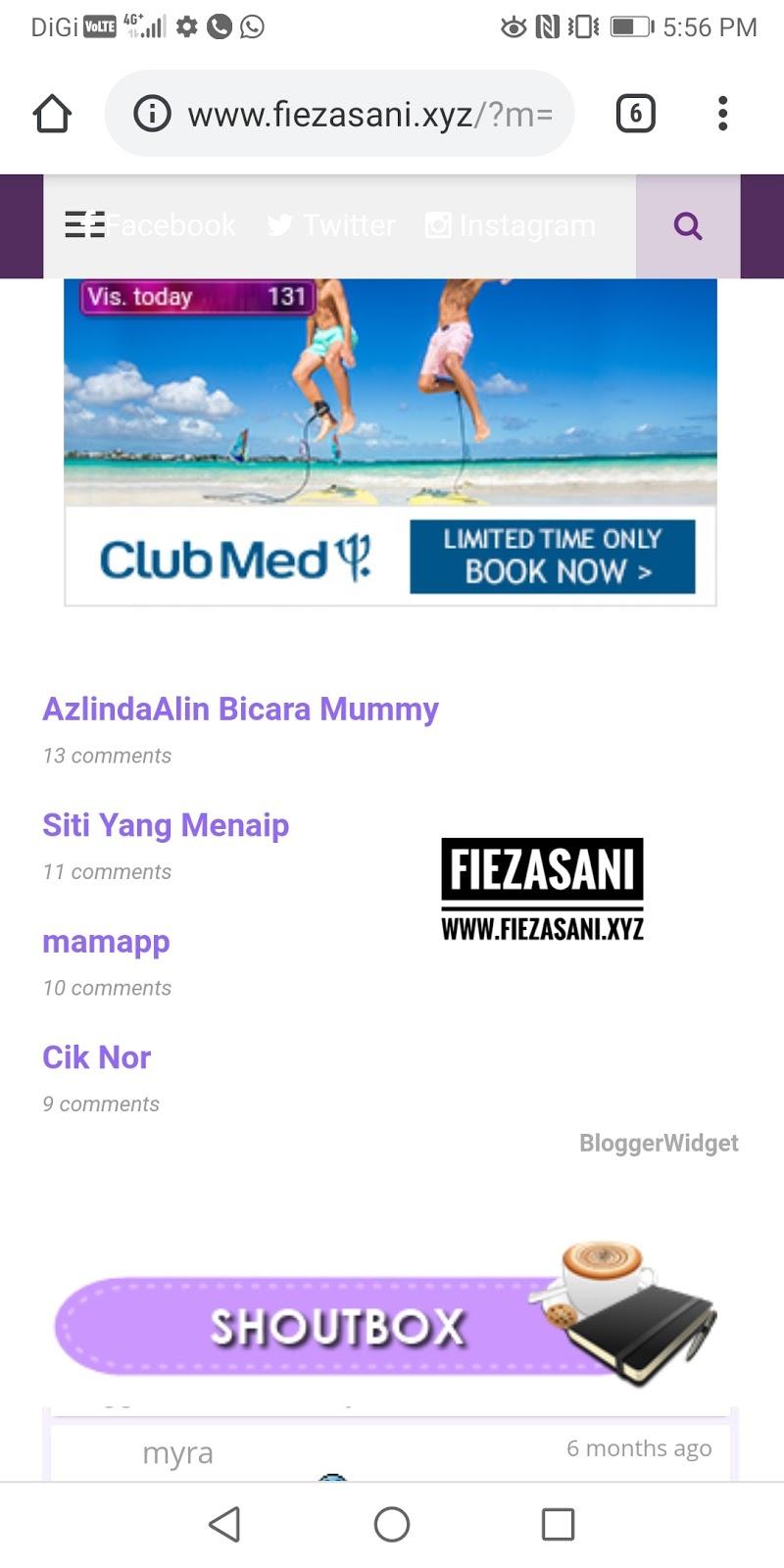 Cenderahati Bulan April 2019 Di Blog FiezaSani