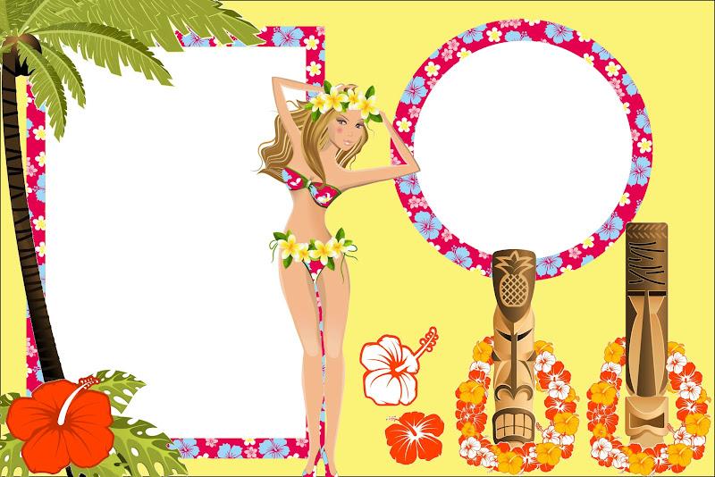 Girls Hawaiian Party Free Printable Invitations