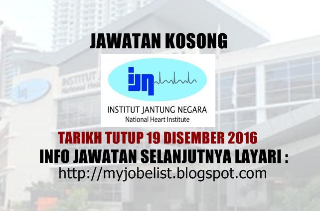 Jawatan Kosong Terkini di IJN Disember 2016
