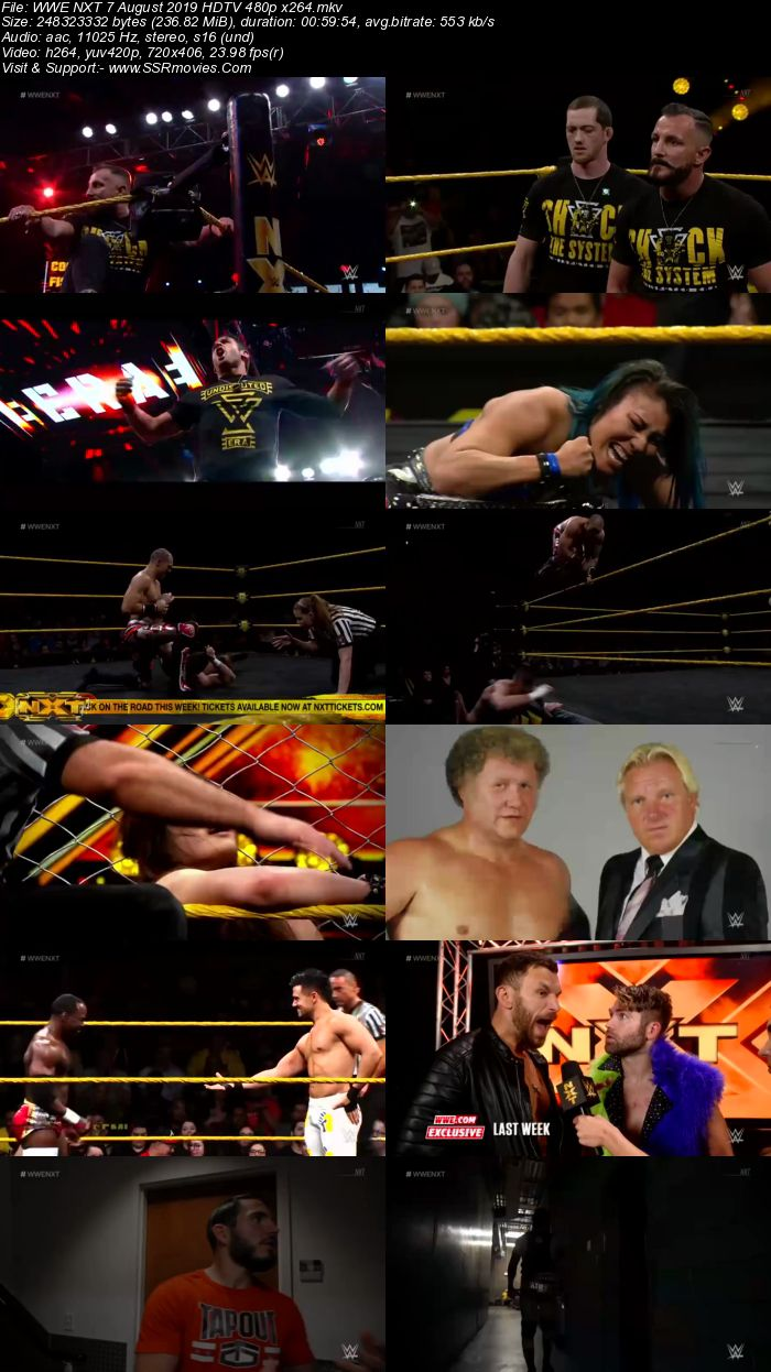 WWE NXT 7 August 2019 480p 720p HDTV Full Show Download HD