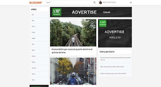 Blog Amp blogger template responsive