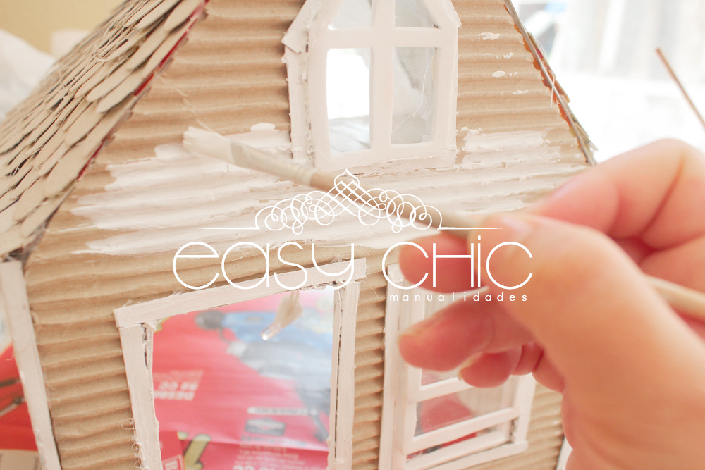 Easychic como hacer una casa de mu ecas de cart n diy - Material para tejados ...