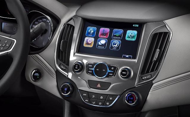 Novo Chevrolet Cruze 2017- sistema mylink 2