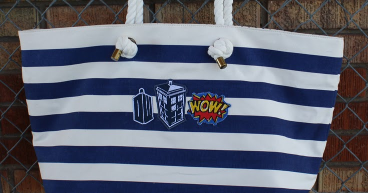 Doodlecraft Doctor Who Patches Tote Bag