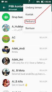Cara memperbarui Teman di Whatsapp Terbaru