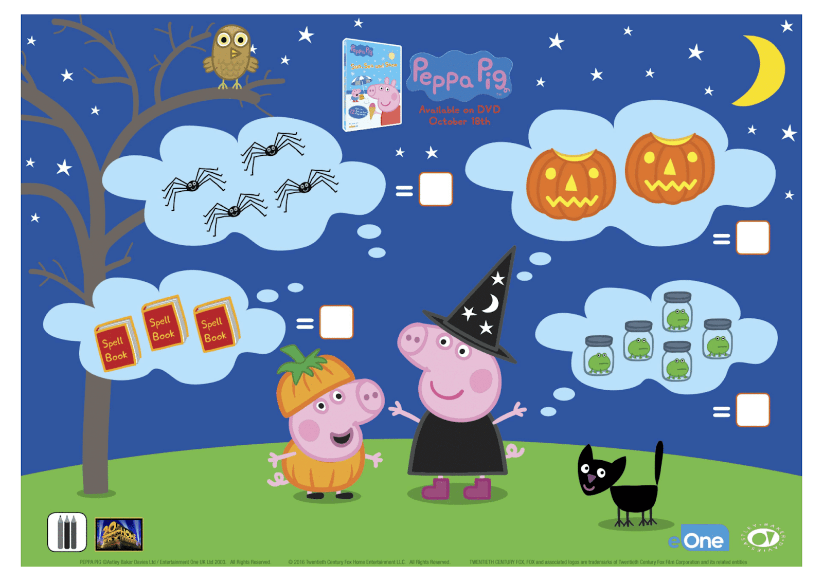 Have A Spooktacular Halloween With Peppa Pig Free Printable Coloring Sheets Activities More Nanny To Mommy