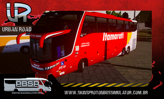 Skin Proton Bus Simulator - G7 1600 LD Scania 6X2 K420 Itamarati