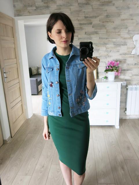 Jeansowa kurtka | Hafty | Denim jacket | Embroidered | Zaful