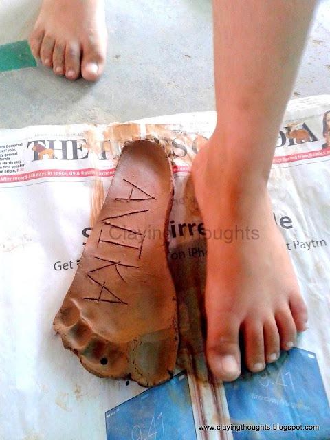 Clay Foot Print
