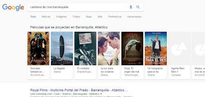cartelera de cine google
