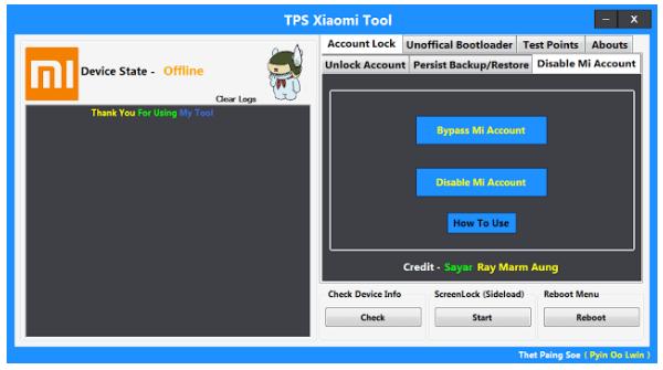 Download TPS Xiaomi 2018 Mi Account Unlock Tool - A Hasam Soft