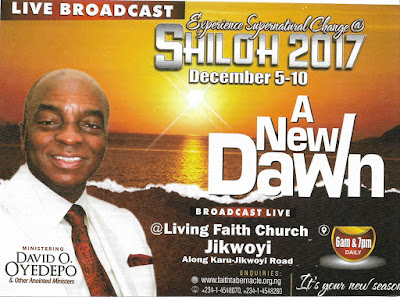 Shiloh 2017 - A New Dawn - Watch Shiloh Live at Jikwoyi Abuja