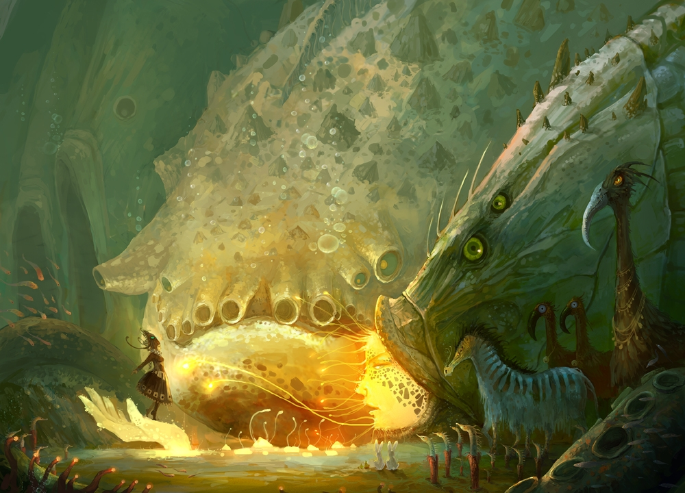 03-I-have-a-Date-with-Big-Fish-ZERG118-Dreams-Made-of-Fantasy-Worlds-and-Creature-Illustrations-www-designstack-co