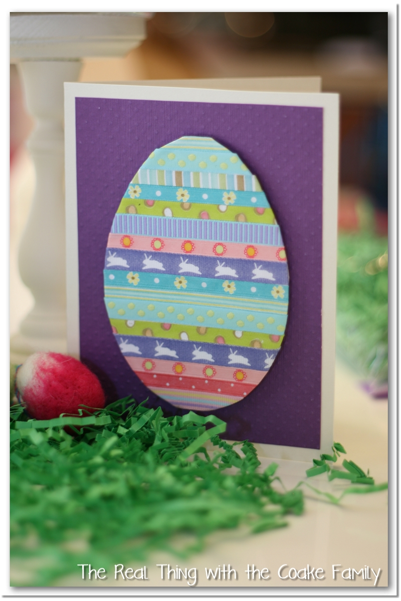 Handmade Cards Simple Easter Card The Real Thing With The Coake