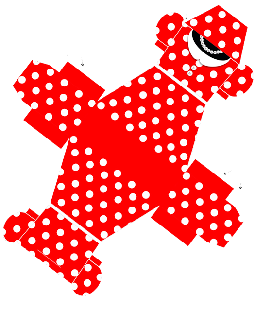 Minnie in Red: Free Printable Dress Shaped Box.