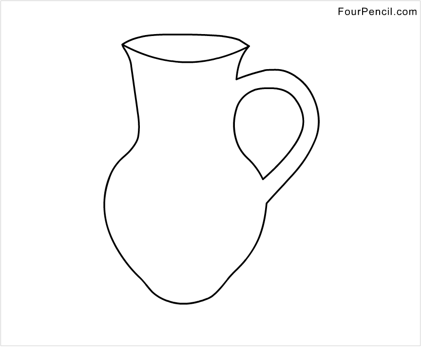 j for jug coloring pages - photo #8