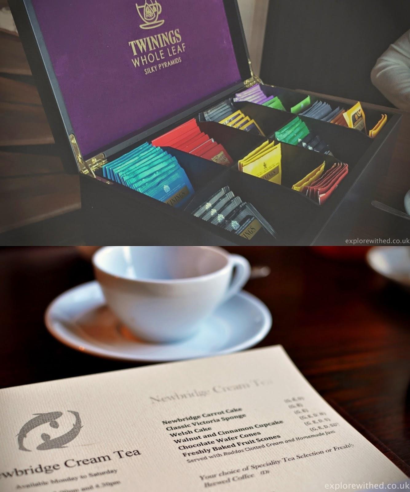 Cream Tea Menu, Twinings Whole Leaf Tea Selection Box
