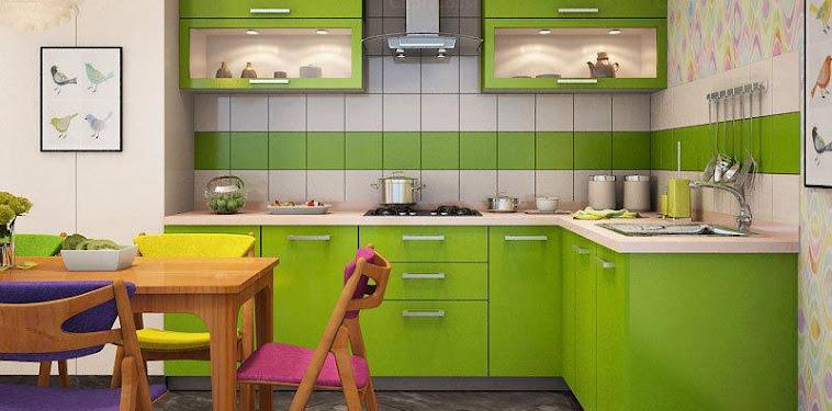 Dekorasi Desain Dapur Hijau Terbaru