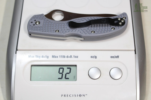 Spyderco Super Blue Stretch On Scale - Grams
