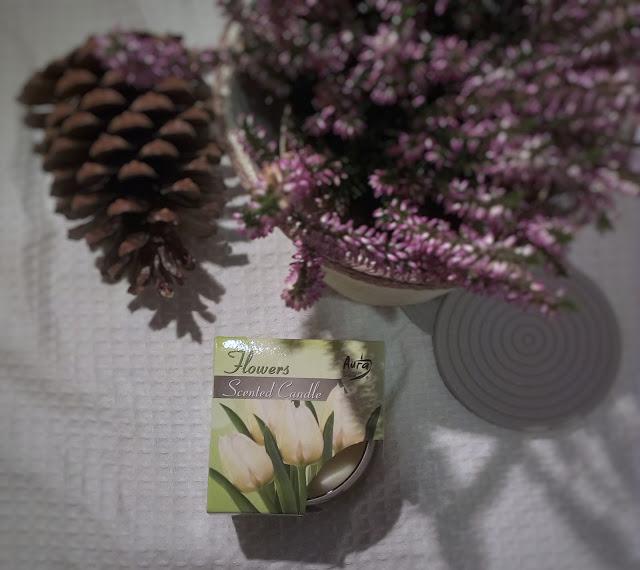 flowers candles bispol, świece bispol, recenzja świec,